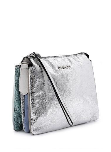 Derimod Messenger / Askılı Çanta Gümüş